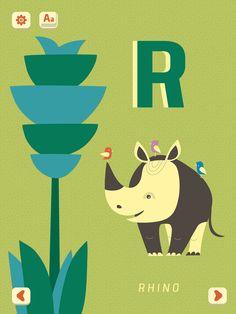 R - Rhino. Mini-U: Zoo Alphabet, PopAppFactory, updated 2017