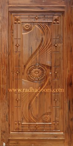 Welcome to Radha Doors Wooden Front Door Design, Main Entrance Door Design, Wooden Front Doors, House Gate Design, Room Door Design, Door Design Interior, Exterior Design, Single Main Door Designs, Best Door Designs
