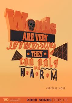 Rock Songs Tribute on Typography Served