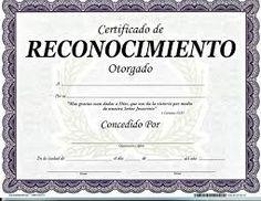 Resultado de imagen para diplomas de reconocimiento