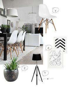 Wohnen Schwarz Weiß mit Pflanzen | Zuhause - Wohnzimmer | Pinterest ...