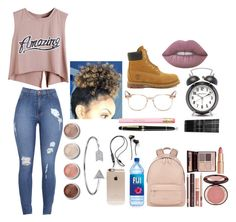 """""""#SchoolLife"""" by pandadonuttwin ❤ liked on Polyvore featuring Timberland, Givenchy, Oliver Peoples, Incase, Monki, Charlotte Tilbury, Montblanc, Lime Crime, Terre Mère and Bling Jewelry"""