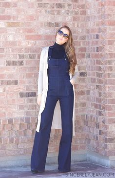 Flare Overalls Womens Fashion - learn how to style this comeback trend!  @sincerelyjean3
