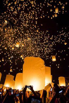 El festival que ilumina el cielo en Tailandia (Yee Peng) - Viajes - 101lugaresincreibles -
