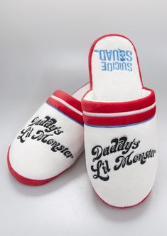 7b5434d887ca Suicide Squad Harley Quinn Daddy' Little Monster Retro Adult Mule Slippers