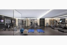 The state-of-the-art fitness centre at 36Hazelton in Toronto Canada, owned by Hollywood actor, Mark Wahlberg is fully furnished with Technogym fitness machines.