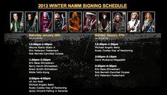 NAMM 2013: Dean Guitars Artist Signing Schedule (Partial)