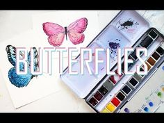 Winsor & Newton Professional Watercolor Set   Simple Butterfly Doodling - YouTube