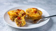 All the traditional flavors of migas in hearty scrambled egg cups. And they freeze beautifully, so eat some now and freeze some for later! They can go right from the freezer to the microwave.