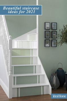 Staircase ideas 2020 – looks for your hallway that will really make an entrance. Create a stairway from heaven with these brilliant staircase ideas. In most homes, the staircase is often the first thing you see when you walk through the front door. So whether it's to make yourself smile or to wow guests, it's worth taking the time to create a focal point. #staircaseideas #howtomakeadramaticstaircase #upcyclingstaircase #howtomakeanentrance #hallwayupcycling #hallwayideas… Rooms Home Decor, Home Living Room, Living Room Decor, Beautiful Stairs, Staircase Ideas, Hallway Decorating, Home Reno, Stairways, Colorful Interiors