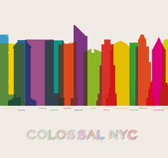 Colossal NewYorkCity by Yoni Alter. It shows the skyline of NYC and is arranged chronologically.