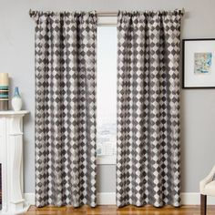Belle Rod Pocket Curtain Pewter - 935PALIS028RPPUL 055096