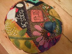 Wool Crazy Pincushion Finish!