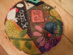 Wool Crazy Pincushion Finish!