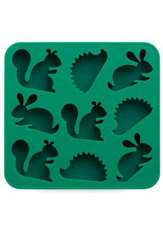 See the Frost for the Trees Ice Cube Tray with Squirrels, Rabbits and Hedgehogs - Thinking a DIY soap project?