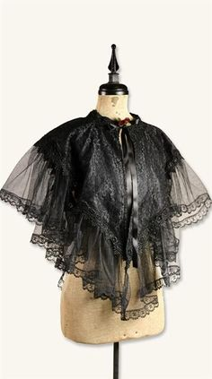VICTORIAN CAPELET. I have an Edwardian capelet, but I'm afraid to wear it out and damage it.