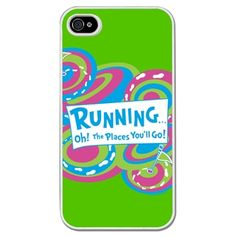 Running iPhone/Galaxy S3 Case Running... Oh! The Places You'll Go! - This customizable protective case is the perfect accessory for any runner's phone. This great Cell Phone Case fits the iPhone 4, iPhone 4S, iPhone 5 and Samsung Galaxy S3.