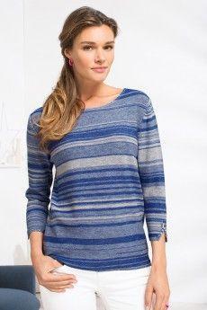 Le pull à rayures en laine d'été