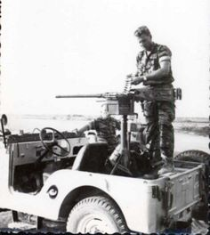 The jeep armed with a .50-cal.
