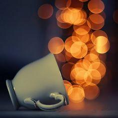 Looks like someone kicked the coffee cup... (sounds like a nice alternative to an ordinary bucket if you ask me)