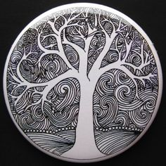 Image result for mandala hd black and white tree