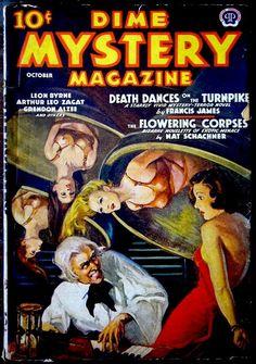 .Dime Mystery magazine, Oct. 1938