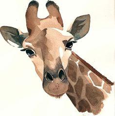 Aquarell Illustration Giraffe - Make Up Forever Giraffe Drawing, Giraffe Painting, Giraffe Art, Giraffe Nursery, Art Watercolor, Watercolor Animals, Watercolor Illustration, Giraffe Illustration, Easter Illustration