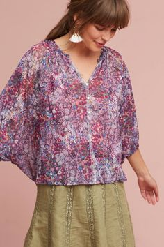 Slide View: 1: Josephine Floral Top