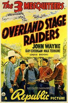 Overland Stage Raiders is a 1938 Three Mesquiteers film[1] starring John Wayne and directed by George Sherman. The film is notable for being the final film in which silent film icon Louise Brooks performed. Wayne played the lead in eight of the fifty-one films in the popular series.