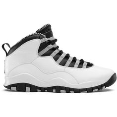 air-jordan-10-retro-steel-2013.jpg (1024×628) ❤ liked on Polyvore featuring shoes, s h o e s and jordans