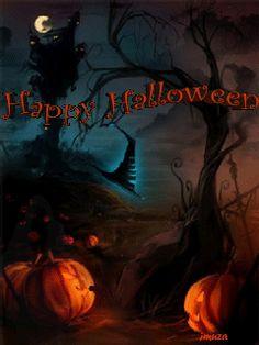 Feliz halloween con movimiento