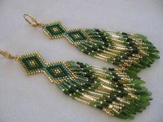 Seed Bead Earrings Native American Beadwork by pattimacs on Etsy