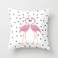 Flamingo Love Throw Pillow by Je.wels & Graphics Berlin