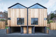 Fassadenverkleidung aus Zedernholz - Cedar Lodges von Adam Knibb