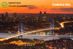 Camlica Hill, Istanbul, Turkey. View the lovely view of the Istanbul and the bosphorus from the highest point of city. This view is breath-taking!
