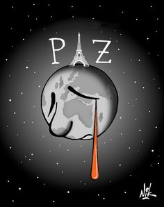 France, Europe and the whole World is mourning Paris victims. Artists express their sympathy through these drawings. Pray For World, Mad World, Attentat Paris, Pray For Paris, Paris 13, Paris Attack, Dream City, Illustrations, Feelings