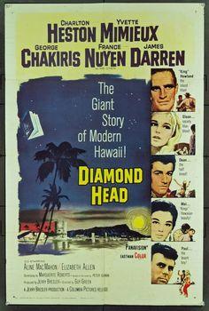 "Vintage ""Diamond Head"" movie advertisement poster"