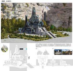 ArtStation - Nightgaunt town concept design, SJ _JAM