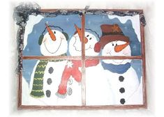 I've got some windows that need snowmen on them! Off to get them painted up!