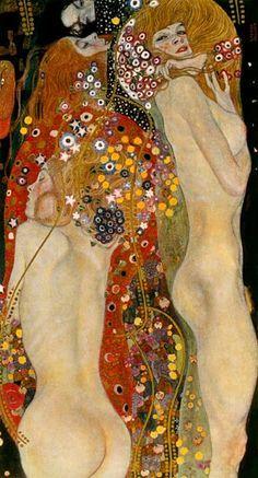 <3 <3 my favorite artist, my favorite painting....Gustav Klimt, Sea Serpents