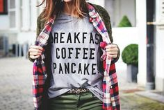 Breakfast Coffee Pancake Shirt Tumbr Tshirt Lazy Sunday door ArmiTee