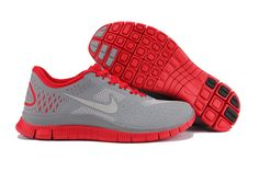 1b41800e0619c Nike Mens Shoes Nike Free 4.0 V2 Gray-Red