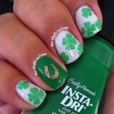 + Carolina Estilo +: Uñas: Nail Art para San Patricio / St. Patrick's Day