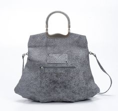 Etsy listing at https://www.etsy.com/listing/219296857/textured-grey-leather-tote-bag-women