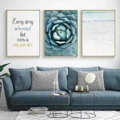 Buy Seawater Ocean Wall Pictures For Living Room Nordic Poster Wall Art Canvas Painting Picture Posters And Prints Cuadros Unframed Tree Wall Art, Framed Wall Art, Canvas Wall Art, Canvas Frame, Canvas Prints, Living Room Mirrors, Living Room Decor, Canvas For Living Room, Wall Mirrors