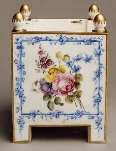 One of a Pair of flower pots (Caisses carrés) Sèvres Manufactory  Decorator: Charles-Louis Méreaud 1759