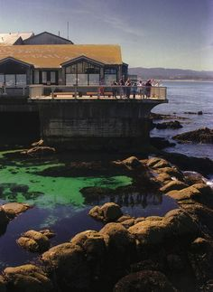 Monterey Bay Aquarium, Monterey, California — by Groovy Trip. One of the outdoor observation decks at the aquarium and outdoor pools. Interactive displays and exhibits,...