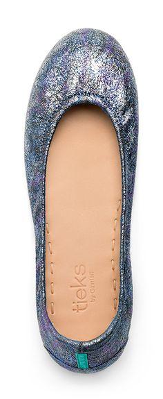 Brilliant as the moon, Moonstruck Tieks will shine in any ensemble.   Tieks Ballet Flats