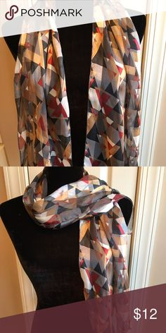 Patterned scarf Excellent condition. 10 day sale and will be donated if not sold by 11 /20. Sold as is and price is firm. Nonsmoking home Accessories Scarves & Wraps