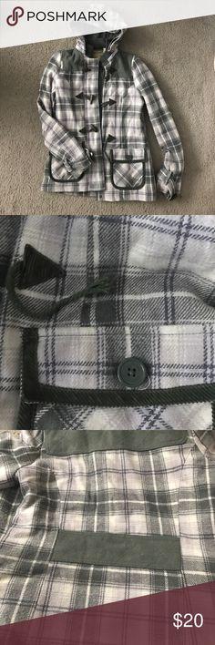 Billabong plaid jacket Green plaid. Warm and super cute! Billabong Jackets & Coats